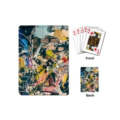 Art Graffiti Abstract Vintage Lines Playing Cards (mini)
