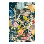 Art Graffiti Abstract Vintage Lines Shower Curtain 48  x 72  (Small)  42.18 x64.8 Curtain