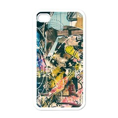 Art Graffiti Abstract Vintage Lines Apple Iphone 4 Case (white)