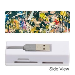 Art Graffiti Abstract Vintage Lines Memory Card Reader (stick)