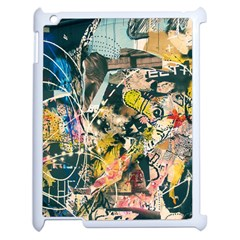 Art Graffiti Abstract Vintage Lines Apple Ipad 2 Case (white)