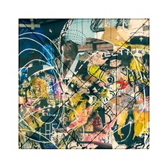 Art Graffiti Abstract Vintage Lines Acrylic Tangram Puzzle (6  X 6 )
