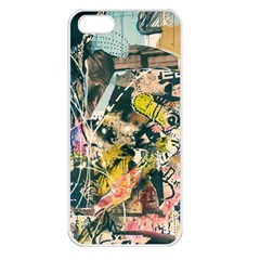 Art Graffiti Abstract Vintage Lines Apple Iphone 5 Seamless Case (white)