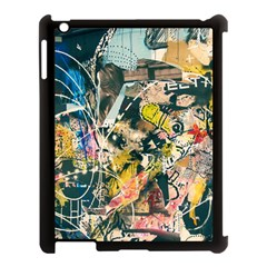 Art Graffiti Abstract Vintage Lines Apple Ipad 3/4 Case (black)