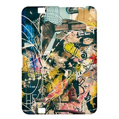 Art Graffiti Abstract Vintage Lines Kindle Fire Hd 8 9