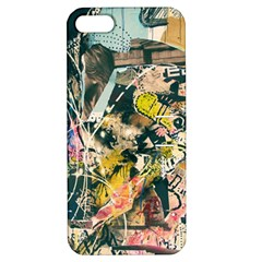 Art Graffiti Abstract Vintage Lines Apple Iphone 5 Hardshell Case With Stand