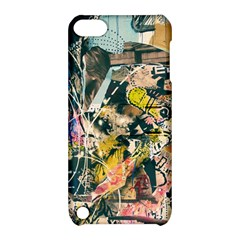 Art Graffiti Abstract Vintage Lines Apple Ipod Touch 5 Hardshell Case With Stand