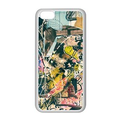 Art Graffiti Abstract Vintage Lines Apple Iphone 5c Seamless Case (white)