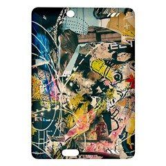 Art Graffiti Abstract Vintage Lines Amazon Kindle Fire Hd (2013) Hardshell Case