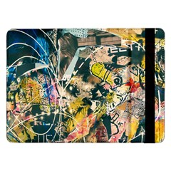 Art Graffiti Abstract Vintage Lines Samsung Galaxy Tab Pro 12 2  Flip Case