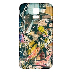 Art Graffiti Abstract Vintage Lines Samsung Galaxy S5 Back Case (white)