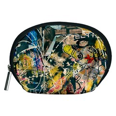 Art Graffiti Abstract Vintage Lines Accessory Pouches (medium)