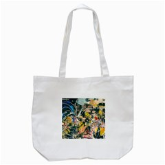 Art Graffiti Abstract Vintage Lines Tote Bag (white)