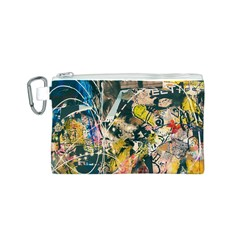 Art Graffiti Abstract Vintage Lines Canvas Cosmetic Bag (s)