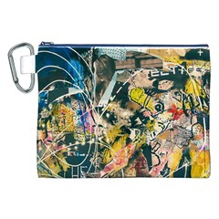Art Graffiti Abstract Vintage Lines Canvas Cosmetic Bag (xxl)