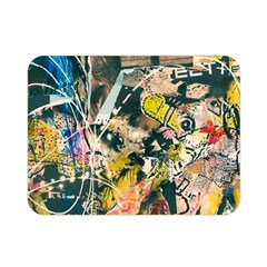 Art Graffiti Abstract Vintage Lines Double Sided Flano Blanket (mini)