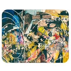 Art Graffiti Abstract Vintage Lines Double Sided Flano Blanket (medium)