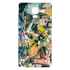 Art Graffiti Abstract Vintage Lines Galaxy Note 4 Back Case