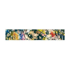 Art Graffiti Abstract Vintage Lines Flano Scarf (mini)