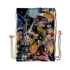 Art Graffiti Abstract Vintage Lines Drawstring Bag (small)