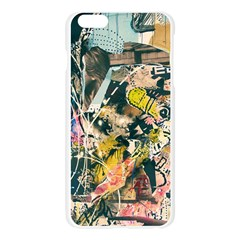 Art Graffiti Abstract Vintage Lines Apple Seamless iPhone 6 Plus/6S Plus Case (Transparent)