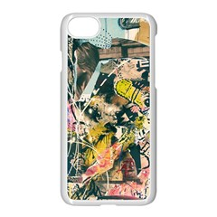 Art Graffiti Abstract Vintage Lines Apple Iphone 7 Seamless Case (white)