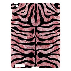 Skin2 Black Marble & Red & White Marble (r) Apple Ipad 3/4 Hardshell Case
