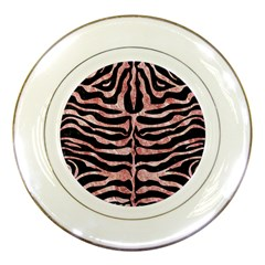 Skin2 Black Marble & Red & White Marble Porcelain Plate
