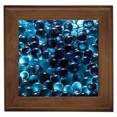 Blue Abstract Balls Spheres Framed Tiles