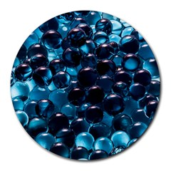 Blue Abstract Balls Spheres Round Mousepads