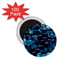 Blue Abstract Balls Spheres 1 75  Magnets (100 Pack)