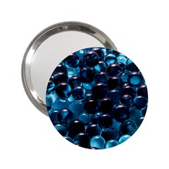 Blue Abstract Balls Spheres 2 25  Handbag Mirrors