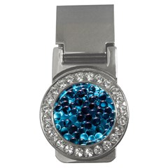 Blue Abstract Balls Spheres Money Clips (cz)