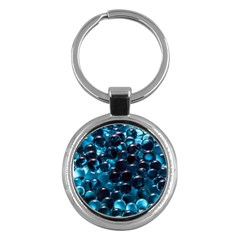 Blue Abstract Balls Spheres Key Chains (round)