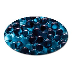 Blue Abstract Balls Spheres Oval Magnet