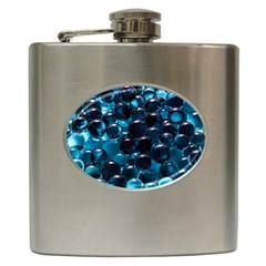 Blue Abstract Balls Spheres Hip Flask (6 oz)