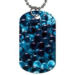 Blue Abstract Balls Spheres Dog Tag (two Sides)