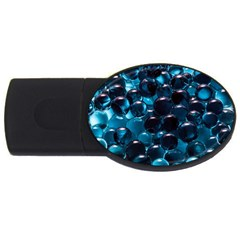 Blue Abstract Balls Spheres Usb Flash Drive Oval (2 Gb)