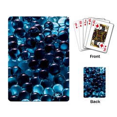 Blue Abstract Balls Spheres Playing Card