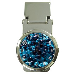 Blue Abstract Balls Spheres Money Clip Watches