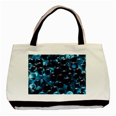 Blue Abstract Balls Spheres Basic Tote Bag