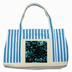 Blue Abstract Balls Spheres Striped Blue Tote Bag