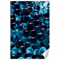 Blue Abstract Balls Spheres Canvas 20  x 30