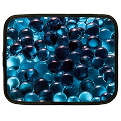 Blue Abstract Balls Spheres Netbook Case (large)