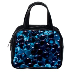 Blue Abstract Balls Spheres Classic Handbags (one Side)