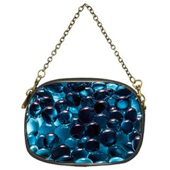 Blue Abstract Balls Spheres Chain Purses (one Side)