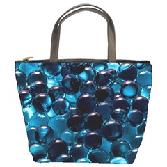 Blue Abstract Balls Spheres Bucket Bags