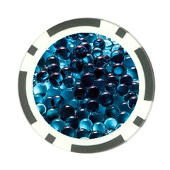 Blue Abstract Balls Spheres Poker Chip Card Guards (10 Pack)