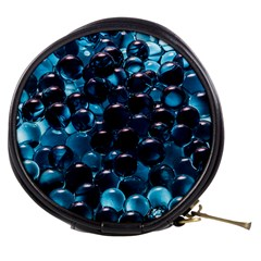 Blue Abstract Balls Spheres Mini Makeup Bags