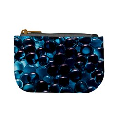 Blue Abstract Balls Spheres Mini Coin Purses